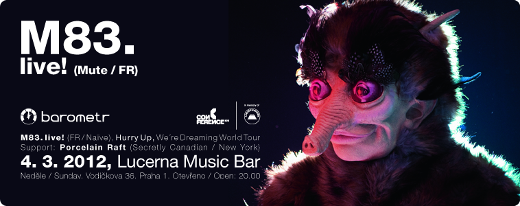 M83. | (FR / Naïve) | Hurry Up, We´re Dreaming World Tour | 4. 3. 2012 | Lucerna Music Bar, Vodičkova 36, Praha 1