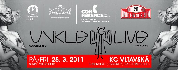 U.N.K.L.E. / UNKLE / Conference 2011 Special / Výročí 20 let vysílání Rádia 1 91,9 FM